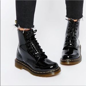 Doc Martens Patent Leather 1460 Boots Black Sz 7